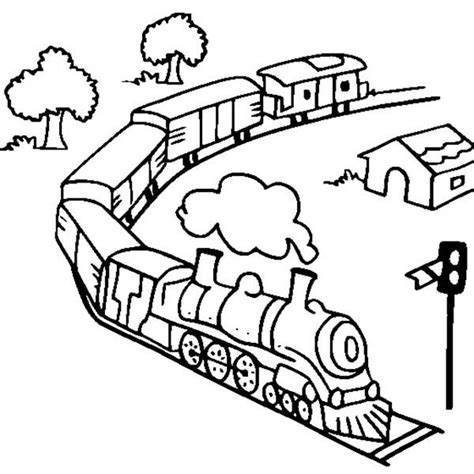 electric train coloring page free coloring pages