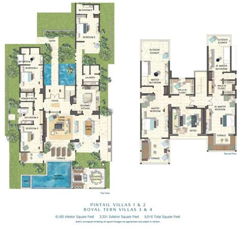 2 Floor Villa Plan Design | luxury floor plans villas and floor plans on pinterest