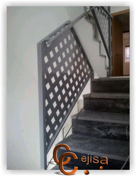 barandilla chapa perforada barandilla modelo chapa perforada montada en escalera de