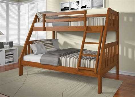 Wooden Bunk Beds With Futon Roy Wood Bunk Bed