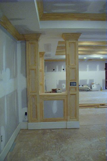 basement support posts wood column basement post wrapping tornto images frompo