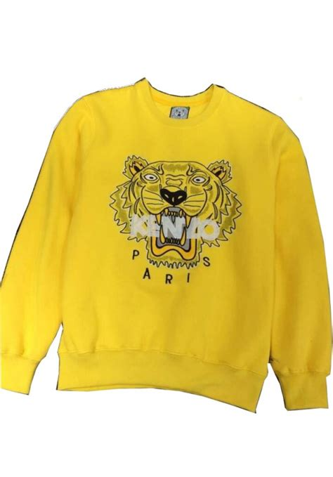 Kemeja Pria Embroidery Marcellino Yellow kenzo flying tiger sweater for sale sweater tunic
