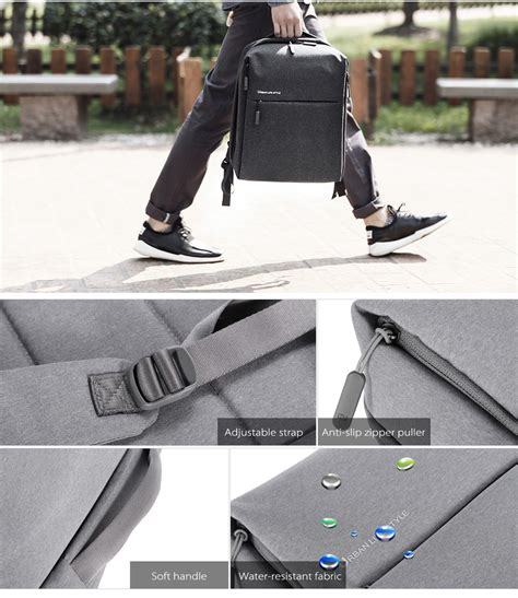 Xiaomi Mi 14 Inch Style Backpack Leisure Sports Bag Grey original xiaomi 14 inch style polyester backpack leisure sports bag in atalanta store yoshop