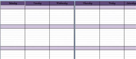 monthly planning calendar template excel blank printable weekly schedule archives my excel templates