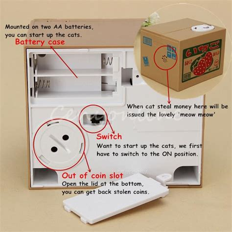 anz new year money boxes new year gift cat automated stealing money