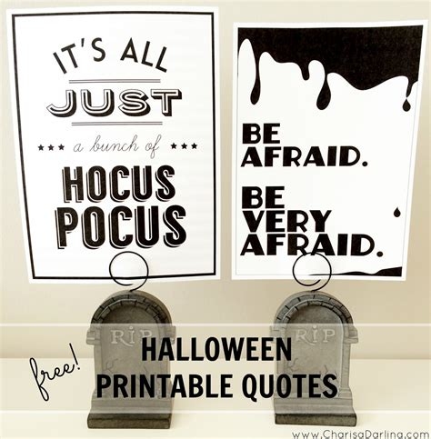 free printable halloween quotes free halloween printable quotes charisa darling