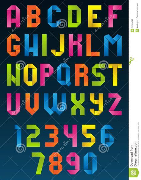 Origami Alphabet - origami alphabet royalty free stock photography image