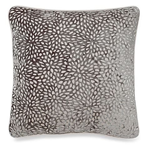 bed bath and beyond decorative throw pillows karst 20 inch square throw pillow in light grey bed bath