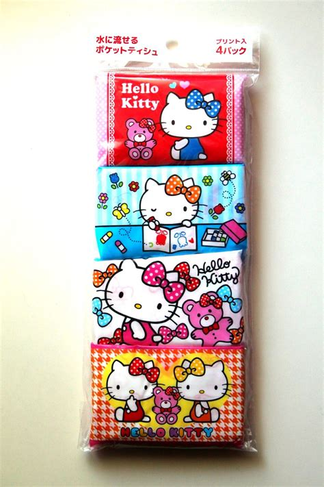 Tissue Hello by Hello Pocket Tissue Sanrio Stuff