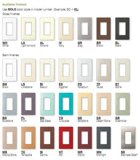 lutron colors lutron sc 5 satin colors wallplate 5 la lighting