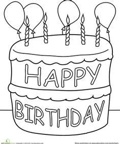 birthday cake coloring pages preschool 1000 images about birthdays pre k on pinterest
