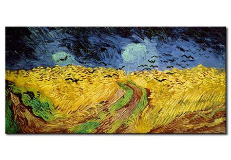 quadri con fiori di pittori famosi riproduzione quadro co di grano con volo di corvi