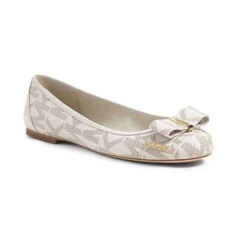 michael kors flat shoes lyst michael kors ballet flats in