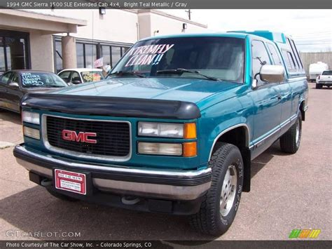 1994 gmc 1500 4x4 1994 gmc 1500 sle extended cab 4x4 in bright teal