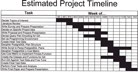project plan and timeline template research project timeline exle