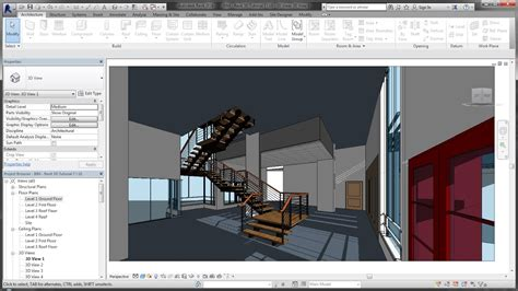 revit tutorial stairs bim revit 3d tutorial for beginners 7of10 adding