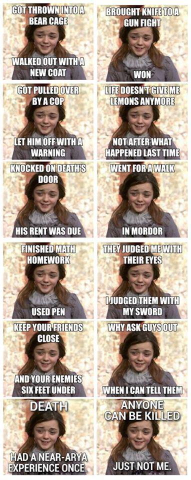Arya Meme - game of thrones arya stark meme jeff pinterest