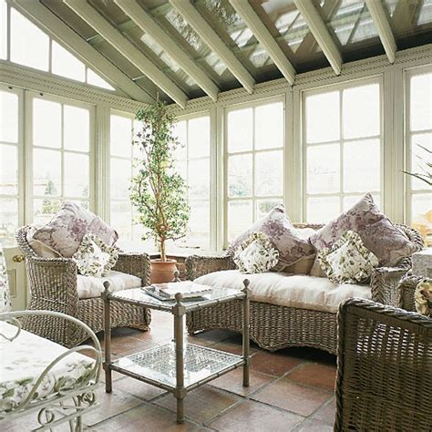victorian conservatory  wicker furniture housetohome