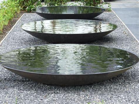 water bowl 60cm steel water bowl garden water feature dish metallic grey gardens design and zen