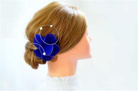 Royal Blue Hair Accessories For Weddings royal blue fascinator flower hair pin royal blue