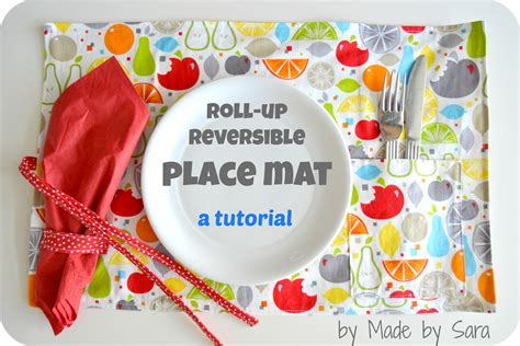 Mat Tutorial by Roll Up Reversible Place Mat Tutorial
