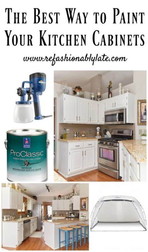 What Is The Best Way To Paint Kitchen Cabinets White The Best Way To Paint Your Kitchen Cabinets Refashionably Late