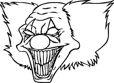 Color Sheet by Scary Coloring Sheets Clowns Coloring Pages Scary Clown