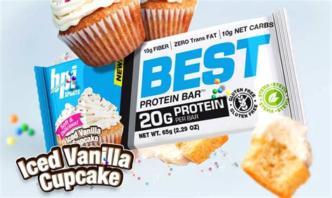 Top Protein Bar Brands by Iced Vanilla Cupcake Best Protein Bar Coming Soon To The