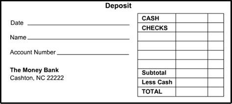 4 Deposit Slip Templates Excel Xlts Deposit Slips Template Word