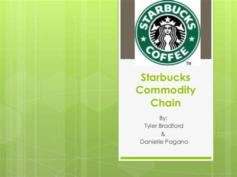 design is not a commodity starbucks commodity chain project