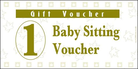 babysitting gift voucher template 9 best images of printable babysitting voucher free