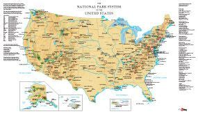 map showing all us national parks lakeshores historical