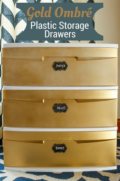 8 drawer ombre rolling cart transform a plastic storage cart with gold ombr 233 spray