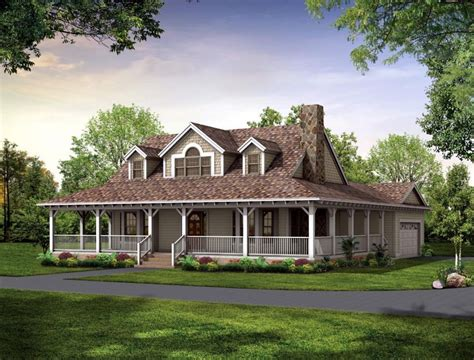 ranch style house plans with wrap around porch and