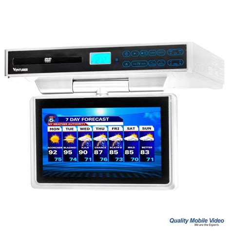 kitchen tv radio under cabinet venturer klv39103 10 quot under cabinet kitchen television