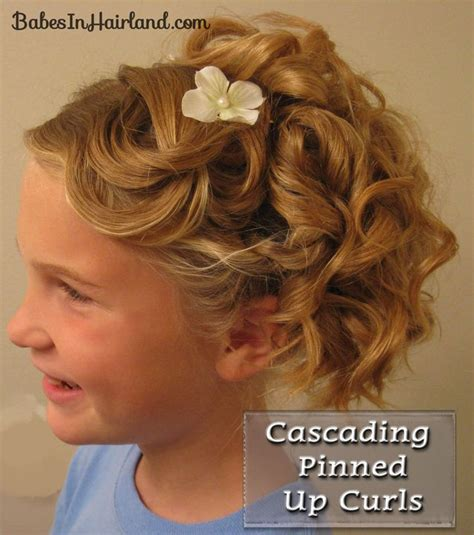 hairstyles cascading curls 15 best images about junior bridesmaid hairstyles on