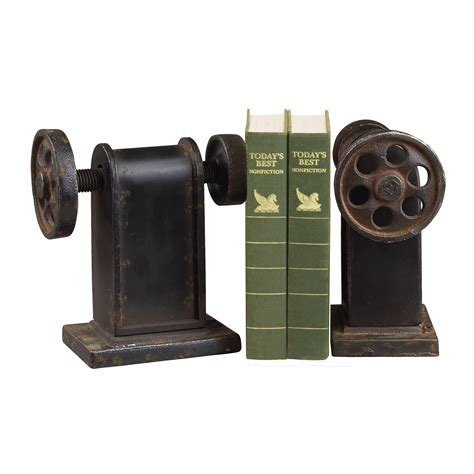 unique bookends industrial book press decorative bookends