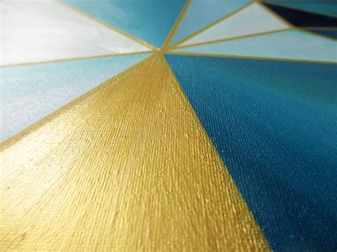 turquoise gold triangles a new artwork magical daydream
