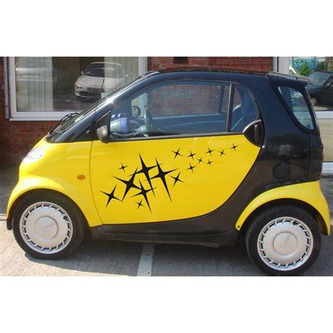 dekor aufkleber auto aa002 sterne dekor auto aufkleber seitendekor smart