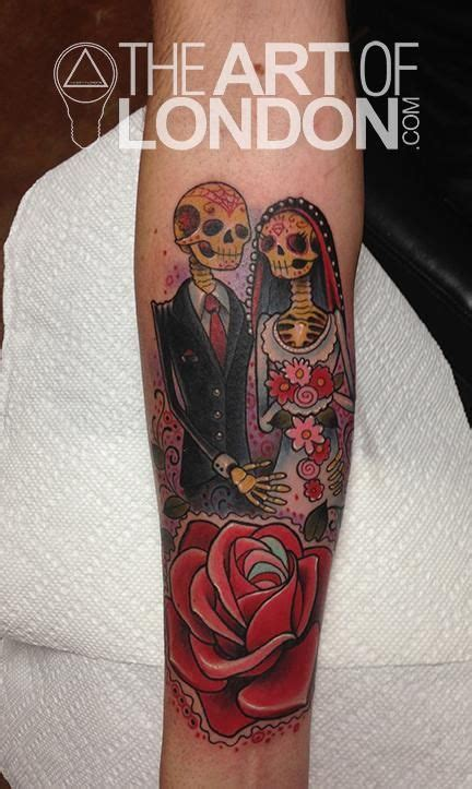 day of the dead couple tattoo reese day of the dead