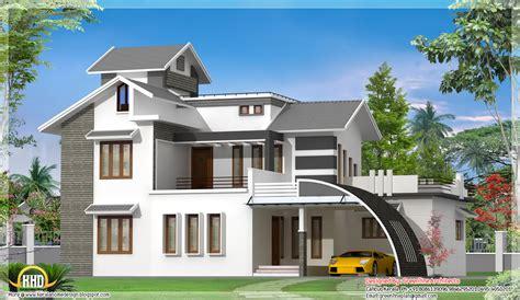 contemporary indian house design  sqft kerala