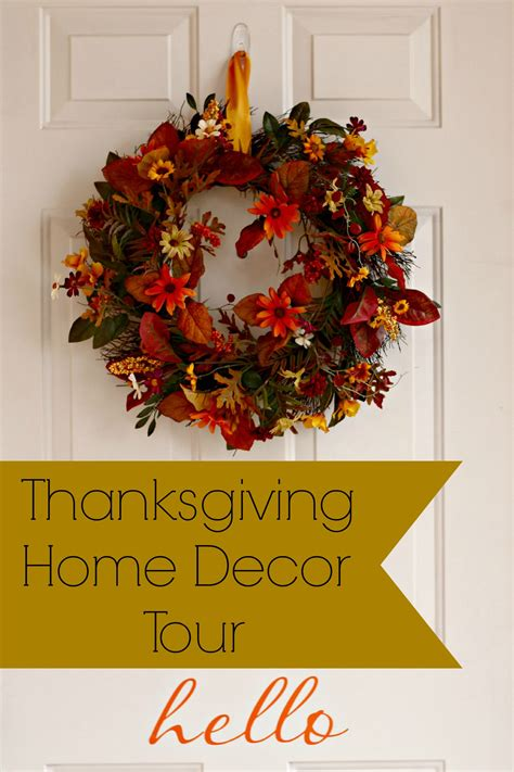 thanksgiving home decor tour organize and decorate