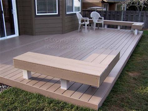 trex benches lewis landscape services fences decks fence deck