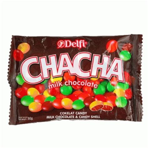 Delfi Chacha Milk Chocolate Berat 250grm coklat kiloan murah delfi chacha milk chocolate chacha gepeng