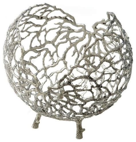 gardenweb home decor coral bowl in pewter contemporary home decor other
