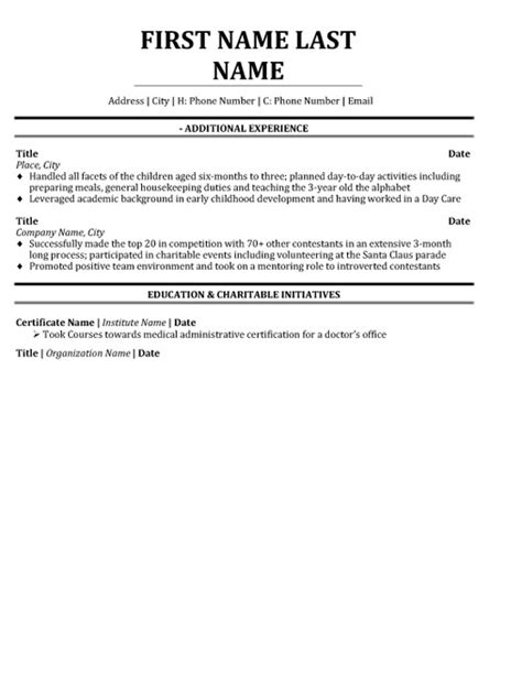 customer service professional resume sle template