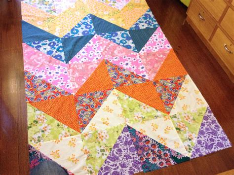 Chevron Patchwork - how to patchwork duvet cover my poppet makes
