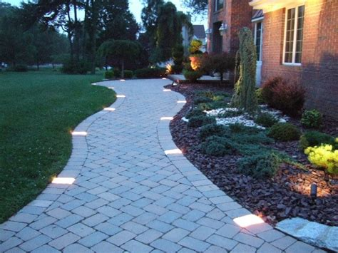 landscape lighting ideas walkways how to install walkway lighting yard surfer