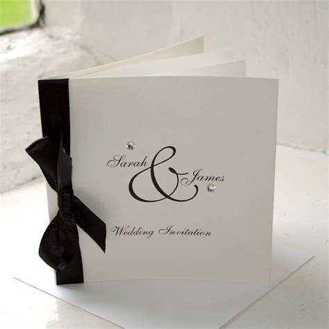not on the high wedding invitations uk diamante wedding stationery collection by the