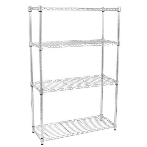4 5 tier storage rack organizer kitchen shelving steel